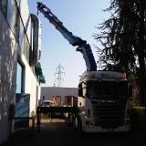 Fase di lavoro con camion gru Ferri System